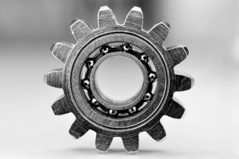 Textured gear and bearing