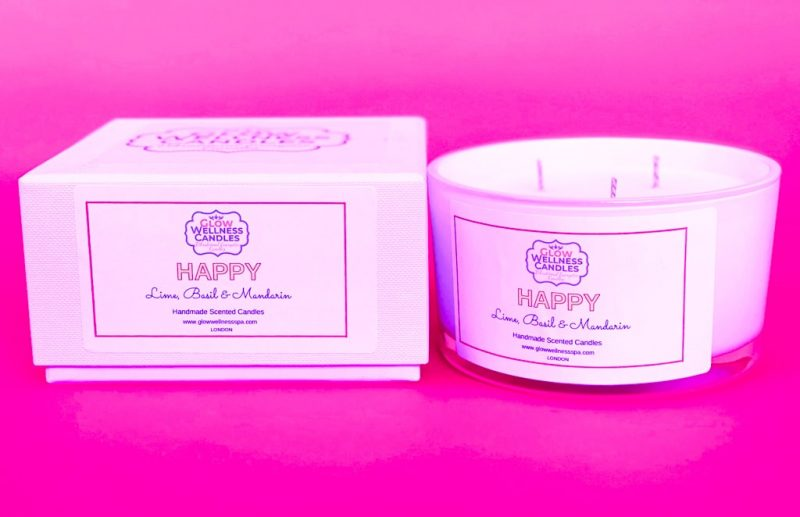 Glow Wellness - Energy Scented Candle - Happy Scented Candle - A Great Luxury Gift for Special one