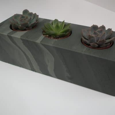 Coniston Stonecraft - Contemporary Plant Holder - Beautiful Handcrafted Lakeland Slate