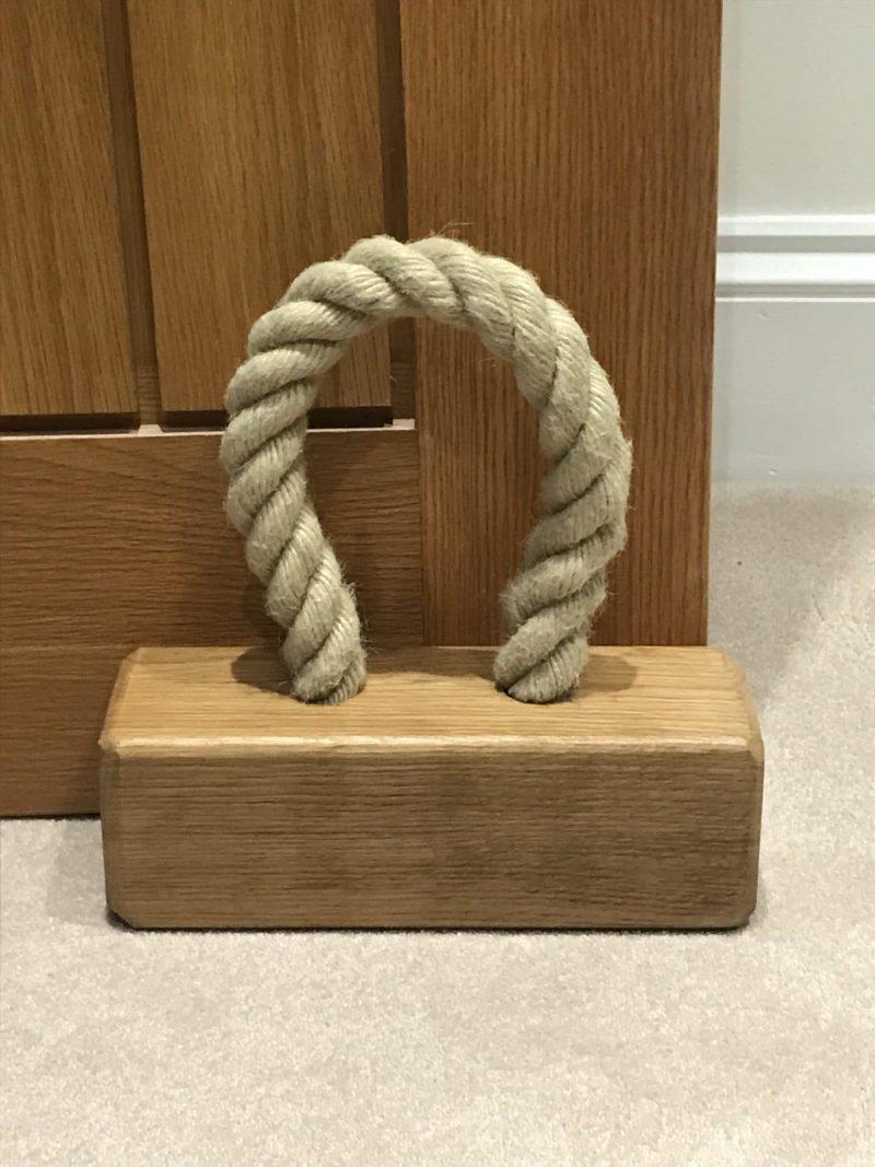 Webber furniture solid oak doorstop _ Personalised oak doorstop _ Buy British