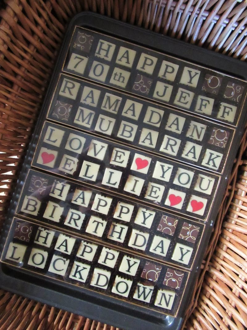 Chocolate Message Box (2 row)