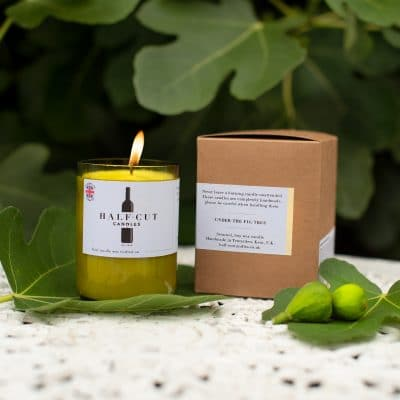 Half-cut candles - Under the fig tree scented candle-A fruity, fresh and sweet scent - Lovely Fragnance