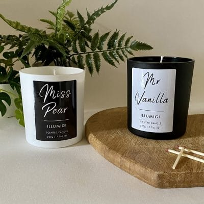 Miss Pear and Mr Vanilla Scented Candle