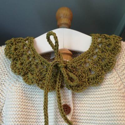 Daisy Dumpling - Peter Pan Baby Crochet Collar - A Little Crocheted Collar That You Can Add To Any Outfit