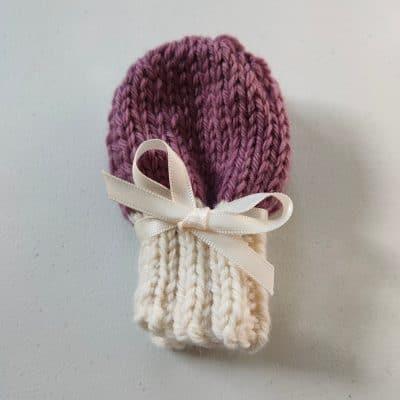Falkland Wool Baby Mittens Daisy Dumpling - Beautifully soft falkland wool