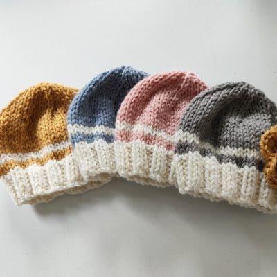 Daisy Dumpling - Falkland Wool Baby Hat - Beautifully Soft Falkland Wool - Gorgeous Baby Hat