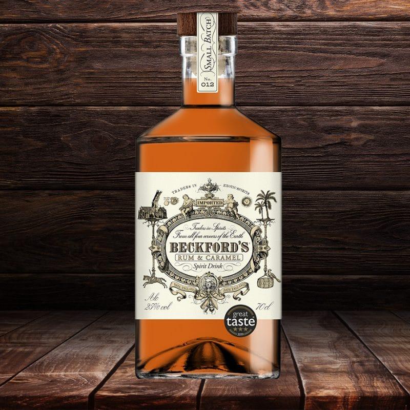 Beckford's Caramel Rum - Star Great Taste Winner - Beckford's Rum Spirits - Made in Britain