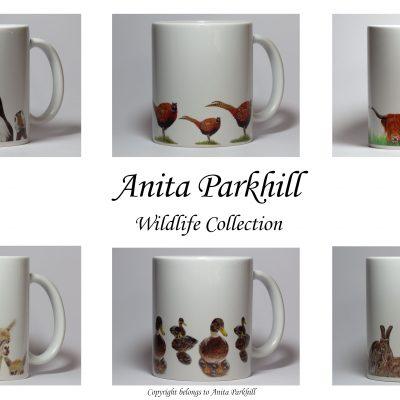 Anita Parkhill - Bespoke wildlife mugs - Best wildlife mug collection