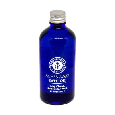 Aches Away Bath Oil by Mrs Frisbee's All Naturals.