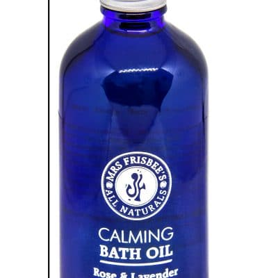 Calming Bath Oil by Mrs Frisbee's All Naturals.