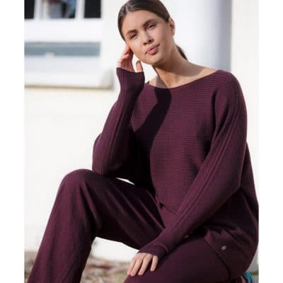 Foxology - Ratley Merino Wool Rib Jumper - Light To Wear And Super Soft - 100% Fine Merino Wool