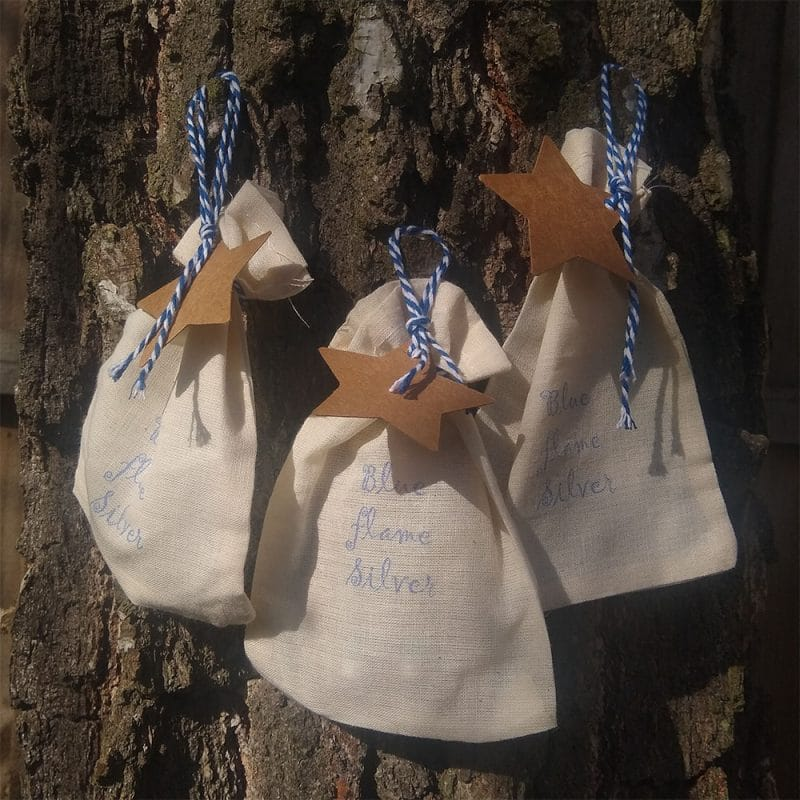 Blue Flame Silver gift bag